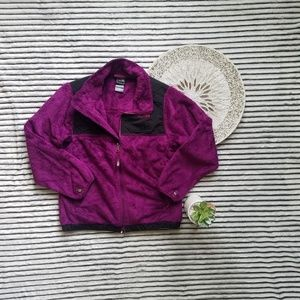 The North Face Purple Black Fuzzy Jacket FLAW